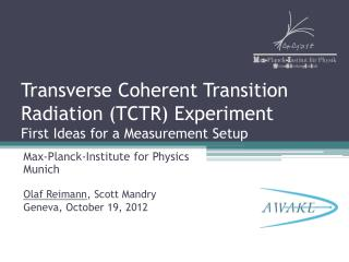 Transverse Coherent Transition Radiation (TCTR) Experiment First Ideas for a Measurement Setup