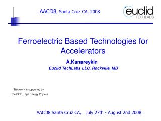 Ferroelectric Based Technologies for Accelerators