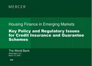 Key Policy and Regulatory Issues for Credit Insurance and Guarantee Schemes