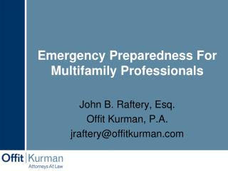 Emergency Preparedness For Multifamily Professionals