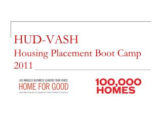 HUD-VASH  Housing Placement Boot Camp 2011