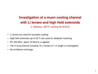 Investigation of a  muon  cooling channel  with Li lenses and high field solenoids