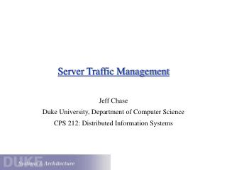 Server Traffic Management