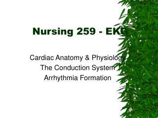 Nursing 259 - EKG
