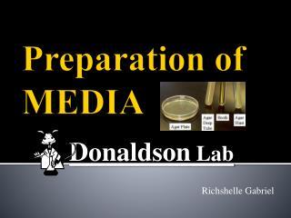 Preparation of MEDIA