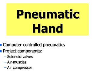 Pneumatic Hand