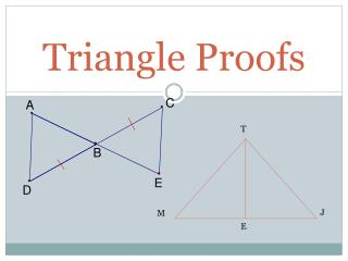 Triangle Proofs