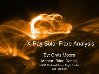 X-Ray Solar Flare Analysis