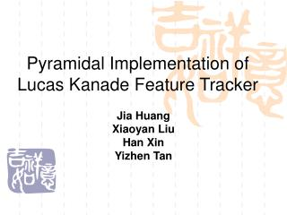 Pyramidal Implementation of Lucas Kanade Feature Tracker