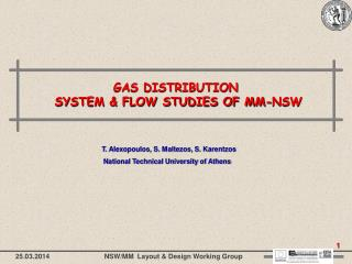 GAS DISTRIBUTION  SYSTEM & FLOW STUDIES OF MM-NSW