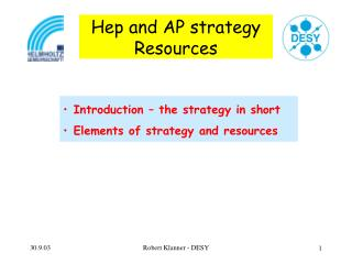 Hep and AP strategy Resources