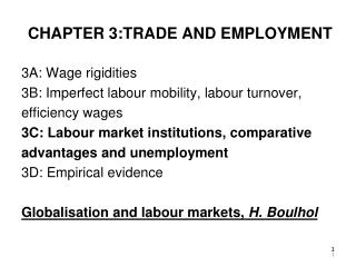 CHAPTER 3:TRADE AND EMPLOYMENT