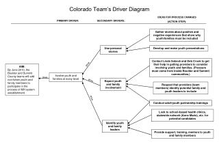Colorado Team's Driver Diagram