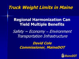 Truck Weight Limits in Maine