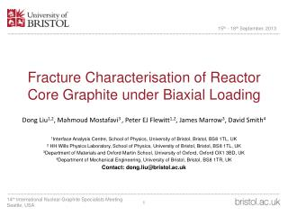 Fracture Characterisation of Reactor Core Graphite under Biaxial Loading