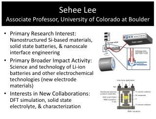 Sehee  Lee Associate Professor, University of Colorado at Boulder