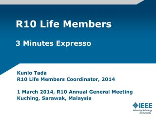 R10 Life Members 3 Minutes Expresso