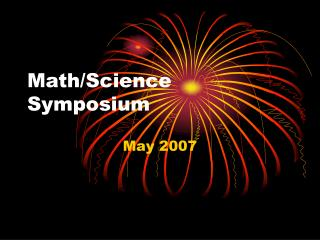Math/Science Symposium