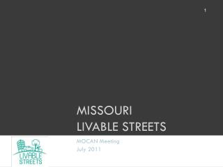 Missouri  Livable Streets