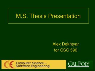 M.S. Thesis Presentation