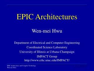 EPIC Architectures