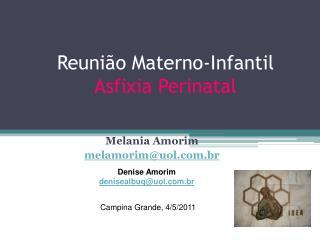 Reuni o Materno-Infantil Asfixia Perinatal
