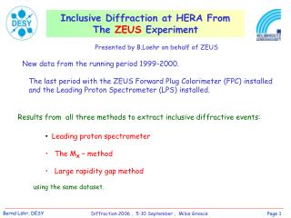Inclusive Diffraction at HERA From The  ZEUS  Experiment