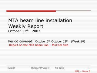 MTA � Week 8