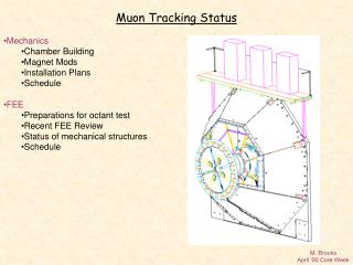 Muon Tracking Status Mechanics Chamber Building Magnet Mods Installation Plans Schedule FEE