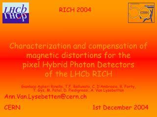 Ann.Van.Lysebetten@cern.ch CERN              1st December 2004