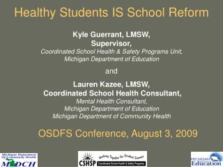OSDFS Conference, August 3, 2009