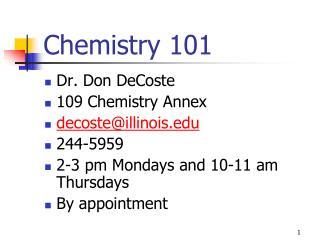 Chemistry 101