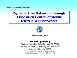 Dynamic Load Balancing through  Association  Control of Mobile Users in  WiFi  Networks
