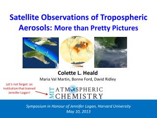 Satellite Observations of Tropospheric Aerosols:  More than Pretty Pictures