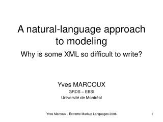 A natural-language approach to modeling