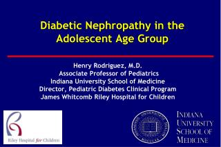 Diabetic Nephropathy in the  Adolescent Age Group