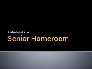 Senior Homeroom