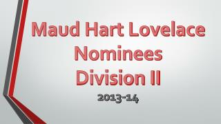 Maud Hart Lovelace Nominees Division II