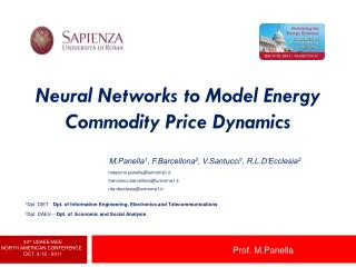 Neural Networks to Model Energy Commodity Price Dynamics