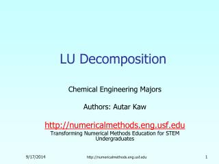 LU Decomposition