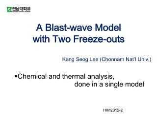 A Blast-wave Model   with Two Freeze-outs