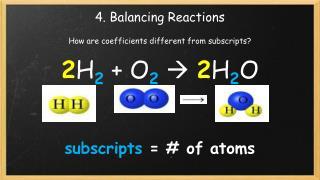 4. Balancing Reactions