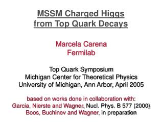 MSSM Charged Higgs  from Top Quark Decays