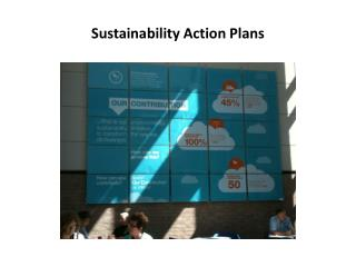 Sustainability Action Plans