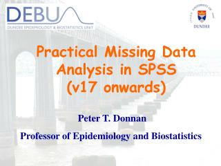Practical Missing Data Analysis in SPSS    (v17 onwards)