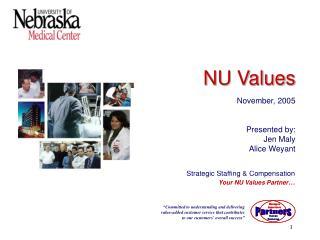 Strategic Staffing & Compensation Your NU Values Partner …