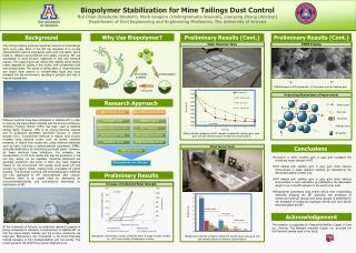 Biopolymer Stabilization for Mine Tailings Dust Control