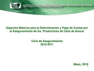 Convenio de Aseguramiento y Pago de Cuotas de los Productores de Ca�a de Az�car.