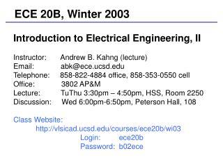 ECE 20B, Winter 2003