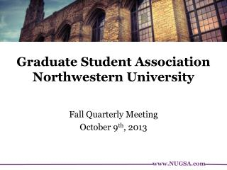 Graduate Student Association Northwestern University